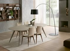 "Round Dining Table Extendable cascade round extendable dining table | 60"" dia. x 30""h; extended"