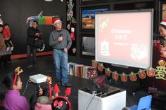 Here you can see me giving a slideshow presentation explaining to my Chinese students and their parents why we celebrate Christmas.