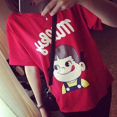 2015-Summer-Women-T-shirt-Japan-Peko-Milky-Cartoon-T-Shirt-Cute-Girl-Short-sleeve-Print.jpg 680×680 pixels