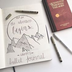 laurens-notebook: �Finally got around to making the intro for my bujo. The first page is always the most pressure! I like how it turned out, especially with my new burgundy micron pen! I�m in love! �