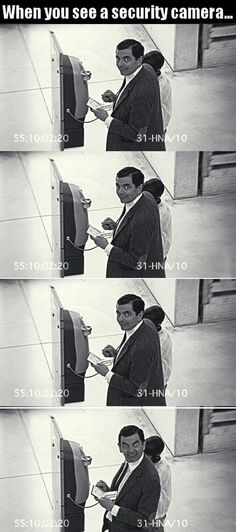 Funny pictures about Every time you see a security camera. Oh, and cool pics about Every time you see a security camera. Also, Every time you see a security camera. Funny Shit, Funny Cute, Funny Posts, The Funny, Funny Memes, Jokes, Funny Stuff, Random Stuff, Funny Things