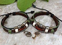 Couples Bracelet ,Key Lock Bracelet ,Lovers Leather Bracelet, Personalized Jewelry , Anniversary Gifts, Bridesmaid Bracelet Joyplancraft http://www.amazon.com/dp/B00KW3J83A/ref=cm_sw_r_pi_dp_dxuUtb1EB8B650N0