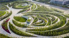 Tianjin-Cultural-Park-David-Lloyd-39 Park Landscape, Garden Landscape Design, Urban Landscape, Abstract Landscape, Garden Landscaping, Landscape Architecture Model, Landscape Architecture Drawing, Architecture Plan, Tianjin