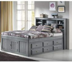 Westport Gray Full Bookcase Captains Bed - ★ Buy Discovery world furniture kids merlot full size bookcase captains bed and Kids captain Beds with bookcase headboard ★ Full cherry merlot Kids captains bed Furniture Bedroom Sets Small Bedroom Furniture, Bed Furniture, Cheap Furniture, Furniture Plans, Antique Furniture, Furniture Websites, Furniture Removal, Modern Bedroom, Luxury Furniture