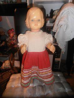 Cellba-Puppe-30er-Jahre-mit-Affenschaukel-Frisur-51-cm
