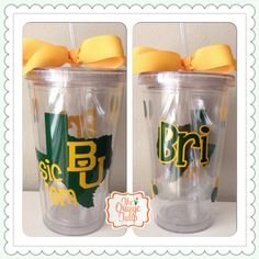 #Baylor University Tumbler / cup with personalization on Etsy, $14.00