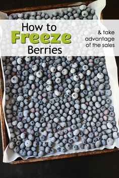 Freeze berries at home so you can make good on summer produce, whether you grow your own or find great deals at the store or farm stand. Freezer Cooking, Freezer Meals, Cooking Tips, Easy Summer Meals, Healthy Summer Recipes, Summer Fun, Clean Diet Recipes, Clean Foods, Clean Eating Challenge
