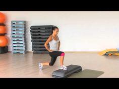 Step aerobic - picioare si coapse