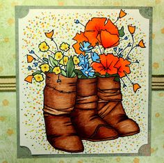 boots and flowers