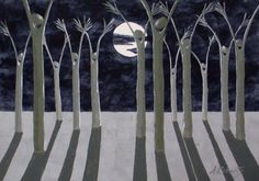 birch trees and moonlight - Google Search