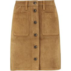 rag & bone Suede mini skirt (€220) ❤ liked on Polyvore featuring skirts, mini skirts, bottoms, tan, short mini skirts, mini skirt, brown mini skirt, short skirts and stretchy mini skirts