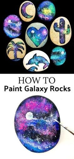 How to make galaxy painted rocks // For more family resources visit www.ifamilykc.com :)