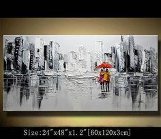 Peinture abstraite, peinture moderne texturé, empâtement paysage texturé couteau à Palette peinture originale, peinture sur toile byChen Taille: 24 x 48 «x1.2» [60x120x3cm] Tendue épaisseur: 1,2(3cm) Encadré / tendu (prêt à accrocher!) Les côtés sont sans agrafe et sont peints en noir. Il est prêt à accrocher.  Détails de paiement: Nous préférons paypal N'oubliez pas de laisser votre numéro de téléphone dans le champ Remarque  Expédition et frais d'emballage: Par Air Mail ou EMS a...