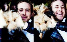 Ryan Gosling and George. Love.Them.Both.