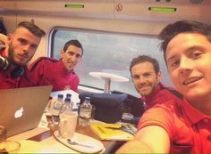 Ander Herrera was in training earlier today and has has travelled with the team to London to face Arsenal. #MUFC