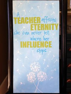 Teacher Appreciation Canvas - words painted by using #pickyourplum vinyl as a stencil material.