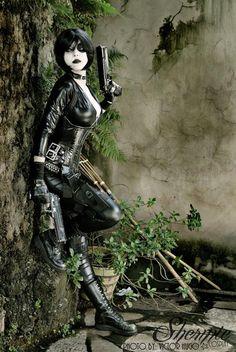 "Neena Thurman ""Domino""- Marvel Cosplayer: Shermie Cosplay"