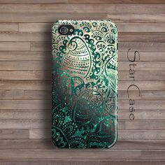 Green iPhone 5 Case, iPhone 4 Case, Floral iPhone 5s Case, iPhone 4s Lace, Cute iPhone 5 Case, Girly iPhone Case by Star Case