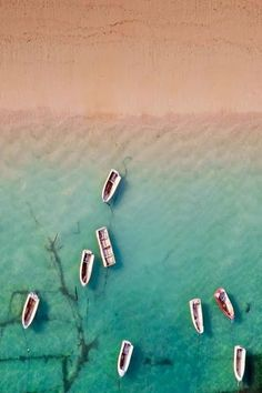 Bali, Indonesia, birds eye pastel beach view.