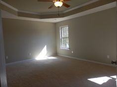 Tray ceilings in the Master Bedroom Master Bedroom, Home, Tray Ceiling, Windows, Tray, New Homes, Ceiling, House