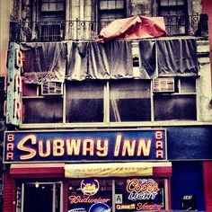 October 25: Subway Inn, Bar, Manhattan