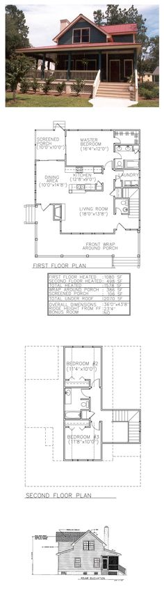 Country Style COOL House Plan ID: chp-28597 | Total Living Area: 1578 sq. ft., 3 bedrooms & 2.5 bathrooms. #houseplan #countrystyle