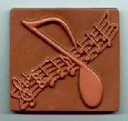Molded chocolate music novelties