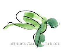 Crow Pose - Yoga Art Print  | Yoga Gifts, Yoga Studio Decor, Yoga Inspiration, Inspiration Gifts, Gift, Inspiration Art
