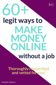 Wow! This is an awesome list of legit ways to make money online with resources on how to get started right away! A must read if you want to be inspired.