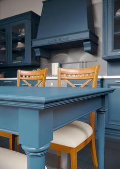 Каталог кухонь | BRISTOL BLUE | Кухни VIRS Bristol, Corner Desk, Kitchen, Blue, Furniture, Home Decor, Corner Table, Cooking, Homemade Home Decor