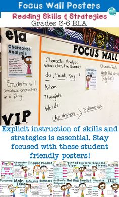 Explicit teaching of reading skills and strategies is so important! Also available, graphic organizers that coordinate with these posters https://www.teacherspayteachers.com/Product/Graphic-Organizers-Using-Text-Evidence-to-Write-About-Reading-2621625