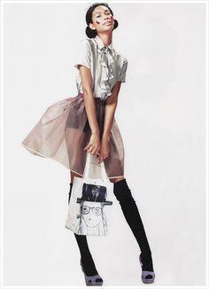 Shorts + Sheer Skirt