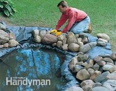 Build your own pond and waterfall, then stock it with plants and fish. Learn the basic techniques for creating a relaxing water feature in your own backyard.