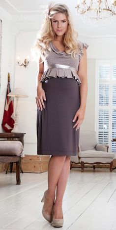 Flounce Tea Maternity Dress - Maternity Wedding Dresses, Evening Wear and Party Clothes by Tiffany Rose.
