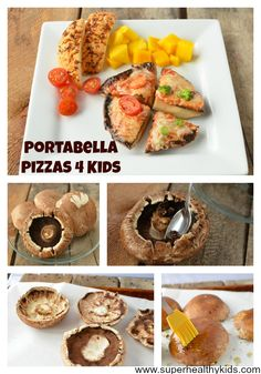 Portabella Pizzas! Fast, easy, and healthy lunch ideas for healthy kids!  #glutenfree #mushrooms4kids #healthymeals