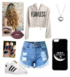 """""""Untitled #190"""" by xox-calumsgxrl on Polyvore featuring Topshop, adidas, Lime Crime and Pandora"""