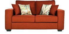 Buy Oritz Two Seater Sofa with Throw Pillows in Burnt Sienna Colour by CasaCraft by CasaCraft online from Pepperfry. ✓Exclusive Offers ✓Free Shipping ✓EMI Available