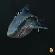Shark, Sergey OnePixelHero on ArtStation at https://www.artstation.com/artwork/94nkq