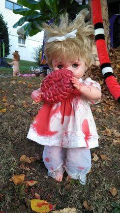 Zombie Baby w/Brain  #zombie #baby #doll