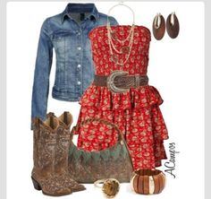 Country dresses plus size Country Style Outfits, Country Dresses, Country Fashion, Cowgirl Outfits, Western Outfits, Cowgirl Fashion, Cowgirl Dresses, Look Fashion, Fashion Outfits