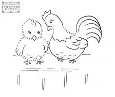 Hen and chick (more--follow link) free via french knots