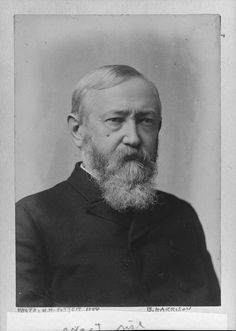 """Benjamin Harrison was the 23rd President of the United States from 1889 to 1893, elected after conducting one of the first """"front-porch"""" campaigns by delivering short speeches to delegations that visited him in Indianapolis. Learn more: http://go.wh.gov/Hpbbyx"""
