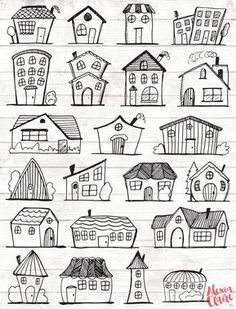 Stress Free Doodles House Clipart House Illustration House Vector