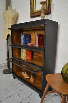 Stunning example of the well known Globe Wernike Stacking Barristers Bookcase from c1930s, painted in Black. Why not grab yourself a quality piece of furniture history! http://www.thetreasuretrove.co.uk/cabinets-and-storage/globe-wernike-stacking-bookcase