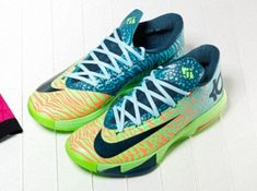 """super popular 59594 c650e Here is a detailed look at the Nike KD VI 6 """"Animal Gradient"""" Sneaker that  should be hitting retailers soon, no exact release date but wil."""