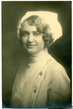 Beautiful flapper's graduation photo from nursing school 1920s hat & uniform| eBay