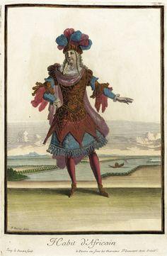 Recueil des modes de la cour de France, 'Habit d'Africain' Jean Lepautre (France, Paris, 1618-1682) Jean Berain (France, 1637/1640-1711) Jac...
