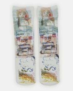Claire Barrow Illustrated Socks - SHOWstudio / MACHINE-A