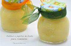Potitos para bebés o papillas de fruta ¡ideales para conserva! Moussaka, Baby Food Recipes, Preserves, Kids Meals, Cantaloupe, Pudding, Jar, Fruit, Breakfast