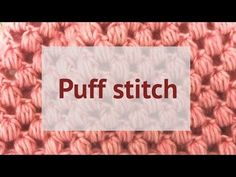 Puff stitch bun hat - free crochet pattern Made by Wilma